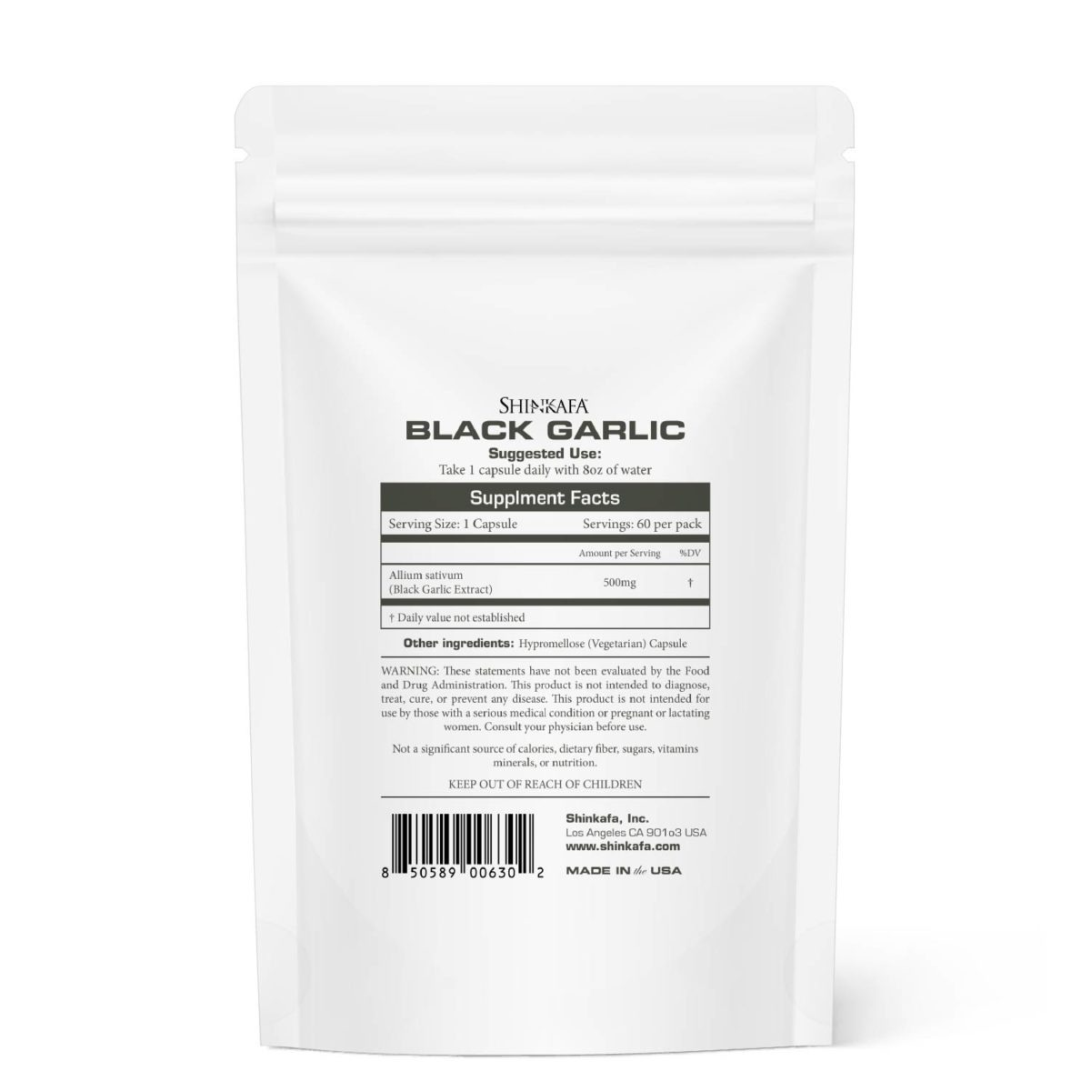 Black Garlic Herbs for Life by Shinkafa - Back